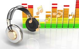 espectro audio del audio del espectro 3d Foto de archivo libre de regalías