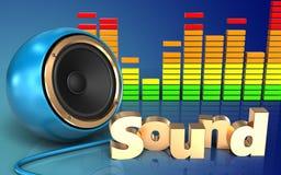 espectro audio del audio del espectro 3d Fotografía de archivo