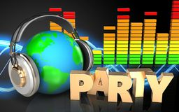 espectro audio del audio del espectro 3d Imagen de archivo