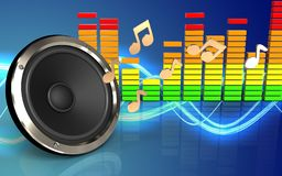 espectro audio del audio del espectro 3d Fotos de archivo libres de regalías