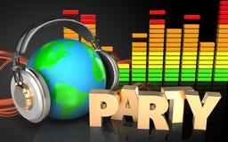espectro audio del audio del espectro 3d Fotos de archivo