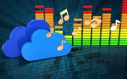 espectro audio del audio del espectro 3d Fotografía de archivo libre de regalías
