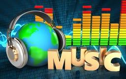espectro audio del audio del espectro 3d Foto de archivo
