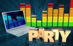 espectro audio del audio del espectro 3d Imagenes de archivo