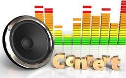 espectro audio do áudio do espectro 3d Imagens de Stock