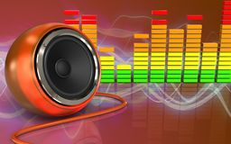espectro audio do áudio do espectro 3d Foto de Stock