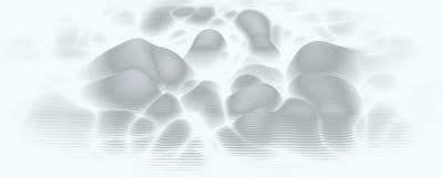 Espectro audio do wavefrom do eco do vetor 3d A música acena o visualização futurista do gráfico da oscilação O Grayscale desvane ilustração stock