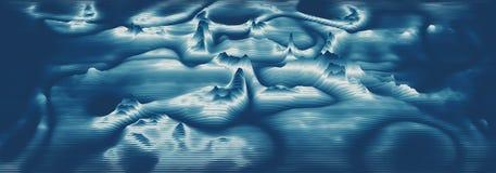 Espectro audio do wavefrom do eco do vetor 3d A música acena o visualização futurista do gráfico da oscilação Impulso desvanecido ilustração do vetor