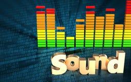espectro 3d audio vazio Fotos de Stock Royalty Free