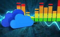 espectro 3d audio vazio Foto de Stock