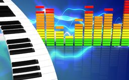 espectro 3d audio vazio Imagens de Stock Royalty Free