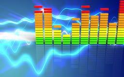 espectro 3d audio vazio Fotografia de Stock Royalty Free