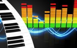 espectro 3d audio vazio Imagem de Stock Royalty Free