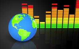 espectro 3d audio vazio Fotos de Stock