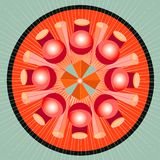 Espectro da geometria da mandala Fotos de Stock