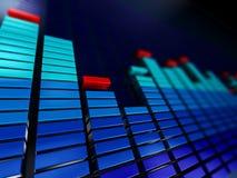 Espectro da música Imagem de Stock