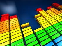 Espectro da música Imagem de Stock Royalty Free