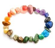 Espectro de color de la piedra preciosa Fotografía de archivo