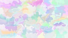 Espectro de color en colores pastel lindo ligero video manchado animado abstracto del lazo inconsútil del fondo almacen de metraje de vídeo