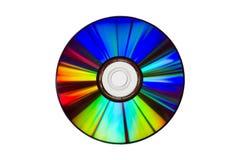 Espectro de colores en un DVD, aislado sobre blanco Fotos de archivo libres de regalías