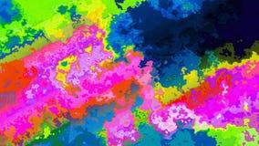 espectro de colores inconsútil manchado animado abstracto del vídeo del lazo del fondo infra almacen de video