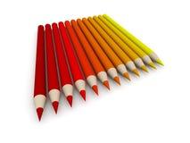 Espectro de cor do pastel - vermelho ilustração stock