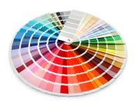Espectro de la carta de color del diseñador Fotos de archivo libres de regalías