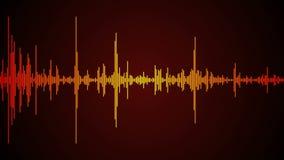 Espectro de la onda acústica stock de ilustración