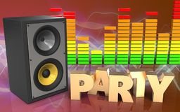 espectro del audio de la muestra del partido 3d Fotografía de archivo libre de regalías