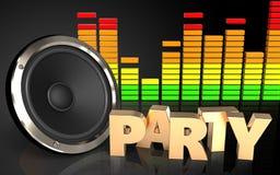 espectro del audio de la muestra del partido 3d Fotos de archivo