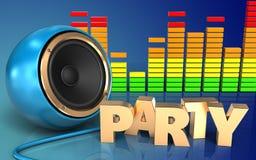 espectro del audio de la muestra del partido 3d Imágenes de archivo libres de regalías