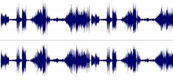 Espectro del sonido estereofónico Imágenes de archivo libres de regalías