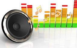 espectro do áudio 3d Imagem de Stock