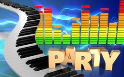 espectro do áudio do sinal do partido 3d Imagem de Stock