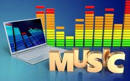 espectro do áudio do laptop 3d Foto de Stock