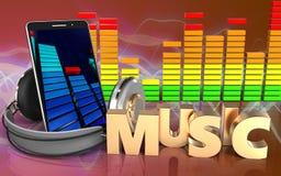 espectro do áudio do sinal da música 3d Imagem de Stock