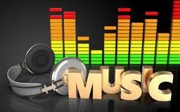 espectro do áudio do sinal da música 3d ilustração royalty free