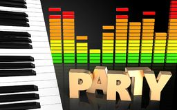 espectro do áudio do sinal do partido 3d Fotografia de Stock Royalty Free