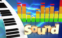 espectro do áudio do sinal 'do som 3d' Imagens de Stock Royalty Free