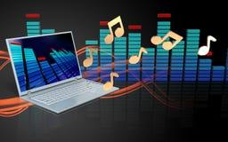 espectro do laptop 3d Imagem de Stock