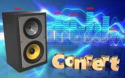 espectro do sinal do concerto 3d Fotos de Stock