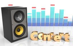 espectro do sinal do concerto 3d Imagens de Stock Royalty Free