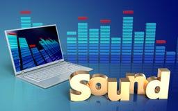 espectro do sinal 'do som 3d' Fotos de Stock