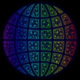 Espectro poligonal Mesh Vector Globe de la res muerta libre illustration