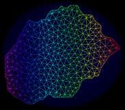 Espectro poligonal Mesh Vetora Map da carcaça da ilha de Alegranza ilustração stock