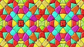 espectro a todo color video cambiante animado abstracto del lazo inconsútil del fondo del mosaico del caleidoscopio metrajes