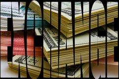 Especulação da moeda o dólar do rublo Imagens de Stock