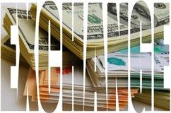 Especulação da moeda o dólar do rublo Fotos de Stock Royalty Free