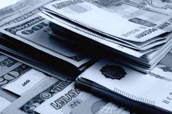 especulação do urrency do  de Rublo-dólar Ñ Foto de Stock