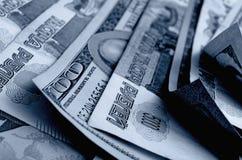especulação do urrency do  de Rublo-dólar Ñ Fotografia de Stock